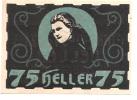 Noodgeld - Notgeld  ULRICHSBERG  75 HELLER  1920 - Billets