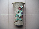 Vase Hauteur 21.5  Cm  Saint Clement N°1114 3-decor De Fleurs-- - Saint Clément (FRA)