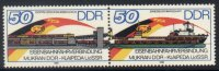 A01 - East Germany DDR - 1986 - SG 2761/62 - Mukran Klaipeda Railway Ferry Trains Ship - MNH - [6] Democratic Republic