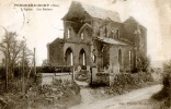 CPA 60 PORQUERICOURT L'EGLISE LES RUINES 1921 EDIT CHARLET BAUDOIN  EDIT COSSON PARIS - Other Municipalities