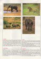 24 IMAGES CHOCOLAT POULAIN / CONNAISSANCE DES MAMMIFERES - LION CHIMPANZE GORILLE PANDA LAMA CERF LOUP CASTOR.... - Otros