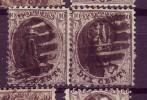 Belgique N°14 Planche N°2  POSITION N°160-159 Paire - 1863-1864 Médaillons (13/16)