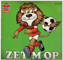 * LP *  ZET 'M OP  (15 Voetbalnummers) - DIVERSE ARTIESTEN - Kleding, Souvenirs & Andere