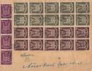DR Briefstück Minr.4x 235,10x 265, 10x 266 München - Deutschland
