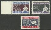LETTLAND Estland Litauen Baltic Displaced Persons Camp Post Lagerpost Augsburg 1946 - Estonie