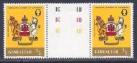 Gibraltar, Scott # 437 Mint Hinged Gutter Pair Chamber Of Commerce, 1982 - Gibraltar