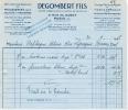 1937 DEGOMBERT FILS RUE DU SABOT PARIS MANUFACTURE SPECIALE DE PEAUSSERIES POUR RELIURES ET REGISTRES MOUTONS EN TOUS GE - France