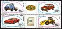 PIA  -  ITALIA -  1986  :  Costruzioni Automobilistiche Italiane - Blocco -   (SAS  1771-74) - 6. 1946-.. Repubblica