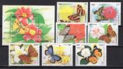 Cambodia 1991 Butterflies Set Of 7 + S/s MNH - Farfalle