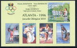 MOLDOVA 1996 Olympic Medal Winner Overprint Block MNH / **.  Michel Block 7 I - Moldova