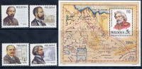 MOLDOVA 1998 Personalities  4v + Block MNH / **.  Michel 266-69 + Block 15 - Moldova