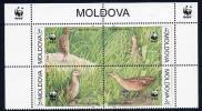 MOLDOVA 2001 WWF: Corncrake MNH / **.  Michel  379-82 - Moldova