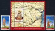 MOLDOVA 2004 Stephen III 500th Anniversary  MNH / **.  Michel  489-90 + Block 31 - Moldova