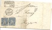 R-Brief 1866 2x 31 - 1862-1881 Helvetia Assise (dentelés)
