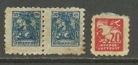 Deutsches Reich KINDERBRIEFMARKEN Kinder Post Kinderluftpost Ca 1918 Interessante Stücke. Sehr Kleines Format. - Neufs