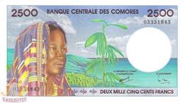 COMORES 2.500 FRANCS 1997 PICK 13 UNC RARE - Comores