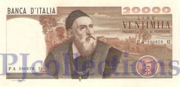 ITALY 20.000 LIRE 1975 PICK 104 XF/AU - 20000 Lira