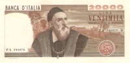 ITALY 20.000 LIRE 1975 PICK 104 XF/AU - 20000 Lire