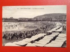 AK San Sebastian La Playa De La Concha Ca. 1910 Espana Tarjeta Postal - Peñón De Vélez De La Gomera