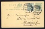 1902 - 1/2d SIERRA LEONE POSTKARTE MIT ZUSATZFRANKATUR 5pg IN NIPPERWIESE BENUTZT - Germany