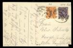 19. FEBRUAR 1923 - MiNr 205 U. 207W MIT BAHNPOST STEMPEL (ZUG 278 - STRALSUND-ROSTOCK) AUF POSTKARTE - Deutschland