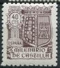 Ed 981* 1944 Milenario De Castilla 40 Cts En Nuevo - 1931-50 Neufs