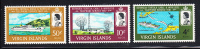 British Virgin Islands MNH Scott #183-#185 Completion Of Bermuda-BVI Telephone Link - Iles Vièrges Britanniques