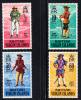 British Virgin Islands MNH Scott #229-#232 Pirates - Iles Vièrges Britanniques