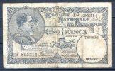 459- Belgique Billet De 5 Francs 1931 E14 - [ 2] 1831-... : Koninkrijk België