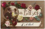 06753g Un Baiser D´ATTERT-- 1920 - Couple Et Fleurs - Taxé - Attert