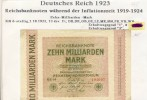 Deutsches Reich -- Reichsbanknote Während Der Inflationszeit V. 1923  10 Milliarden Mark  (265) - [ 3] 1918-1933 : Weimar Republic