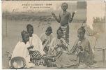 Soudan AOF 1015 Fortier Fileuses Coton Jeune Fille Seins Nus Timbre Decollé Defaut - Sudan