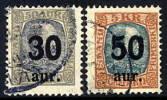 ICELAND 1925 Surcharges Used.  Michel 112-13 - 1918-1944 Autonomous Administration