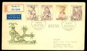 CESKOSLOVENSKO * CZECHOSLOVAKIA * CZECH * FDC * NATIONAL COSTUMES * 1956 - FDC