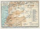 Syrie Et Liban Carte Geographique Map, Tripoli, Soueida, Lattaquié, Palestine P. U. Broumana - Liban