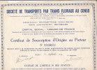 AA2054     SOCIETE DE TRANSPORT PAR TRAINS FLUVIAUX AU CONGO - Non Classés