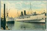 Steamer Harvard At San Pedro Dock, California 1915 (ii-37) - Steamers