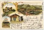 Gruss Aus Buhl Schonstein Hotel Timbrée Buhl 1902 - Other Municipalities