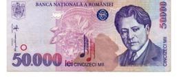 Romania 50.000 Lei George Enescu BANKNOTE 1996 50000 LEI VF - Roumanie