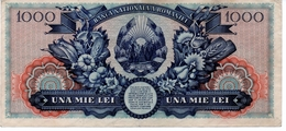 1948 ROMANIA 1000 LEI  P. 85 FIRST COMMUNIST BANKNOTE Tudor Vladimirescu VF - Roumanie
