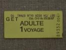 Ticket GET. Gie. Ord Du 23.09.67 ADULTE 1 Voyage. Voir Photos. - Chemins De Fer