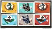 AJMAN 1967 - 12º JAMBOREE MUNDIAL EN IDAHO - 12th WORLD JAMBOREE IN IDAHO.- Serie 6 V. SIN DENTAR - IMPERFORATED - Scouting
