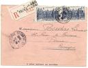 REF LBR33 / BX - FRANCE - LETTRE RECOMMANDE - CONVOCATION DU TRIBUNAL CIVIL POUR ACCIDENT DU TRAVAIL 8/1/1948 - Marcophilie (Lettres)