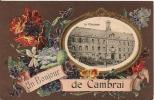 Cpa59 Cambrai Un Bonjour ( Le Collège ) - Cambrai