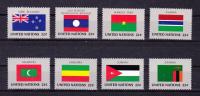 UNITED STATES (  U N  New  York ) ,  1986 , Flags , Y&T  467/82 , Cv 25,60 E , ** MNH , V V F - New York - Sede Centrale Delle NU