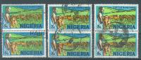 VEND TIMBRES DU NIGERIA N° 284 (B) EN PAIRES X 3 NUANCES DIFFERENTES !!!! - Nigeria (1961-...)