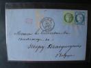 Frankreich: Schöner Alter Brief Mischfrankatur Von Paris 1873 Nach Belgien ! - 1871-1875 Ceres