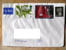 Cover Sent From UK To Lithuania, 1993, Queen Flower - 1952-.... (Elizabeth II)