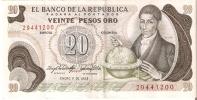 BILLETE DE COLOMBIA DE 20 PESOS DE ORO DEL AÑO 1983  (BANK NOTE) - Colombia