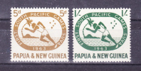 PAPUA NEW GUINEA   1963   Sport - South Pacific Games    Y&T   # 54/5   , Cv  2,00    E  , ** M N H , V V F  V V F - Papua New Guinea